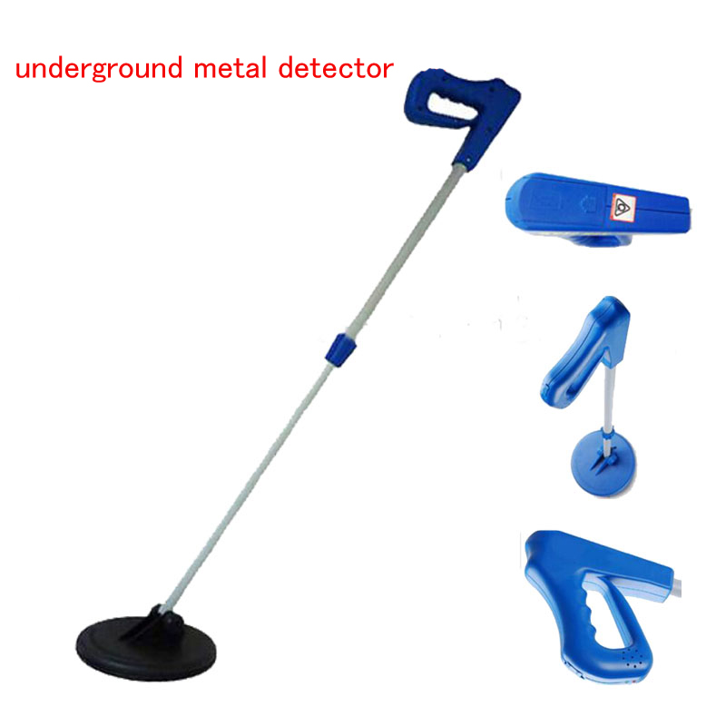 Portable underground metal detector  Battery-Powered Metal Detector with 0.5m Detecting Depth in Light Blue MD1005