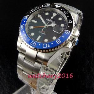 Image 3 - 新 40 ミリメートルパーニスブラックセラミックサファイアガラス日付調整 GMT 自動ムーブメントメンズビジネス腕時計