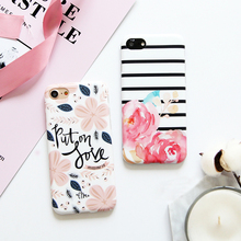 Watercolor flowers painting case For iphone 7 7plus soft TPU case for iphone 6 6s 6plus 6splus 8 8plus protective case