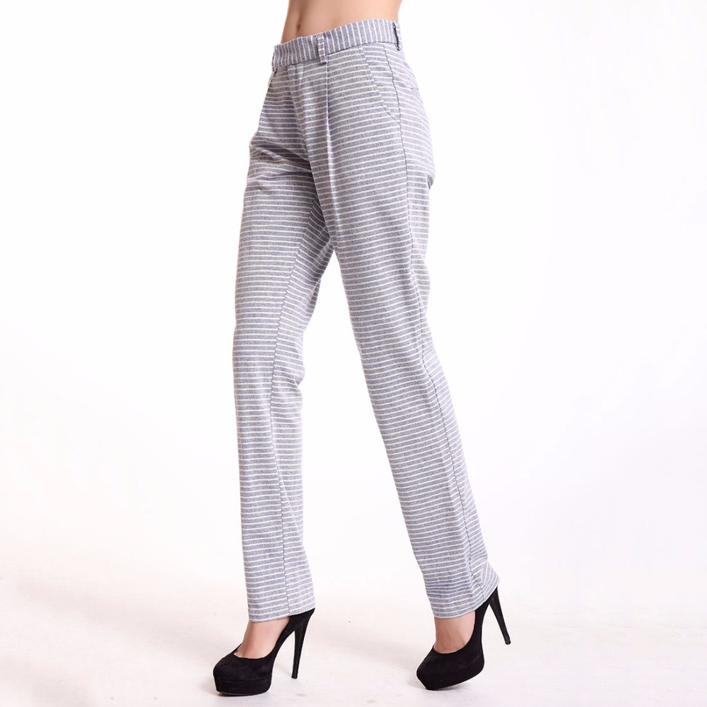 T Inside 2016 Women Pants Light Blue And White Striped