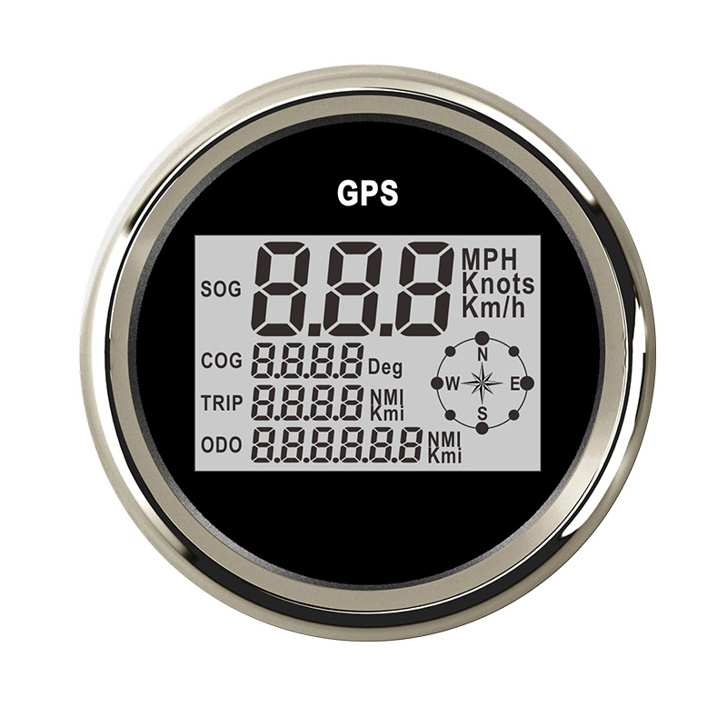 85 milímetros Digital Velocímetro Do Carro Barco GPS Medidor de Velocidade do Odómetro 0-nó 999 kmh mph para auto Truck Boat motocicleta 12 v 24 v