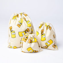 The Simpsons Figures Travel Drawstring Sport Bag 2018 New The Simpsons Bart Simpsons Figurines Christmas Decoration Storage Toy(China)