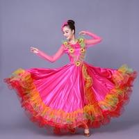 Spanish Bullfight Belly Dance Dress Flamenco fille Skirts Red Flamenco Dresses For Women Costume Adult Bullfight Clothing L185