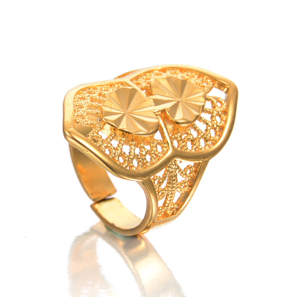 Wholesale Unique Design Gold color Indian Opening Rings For ...