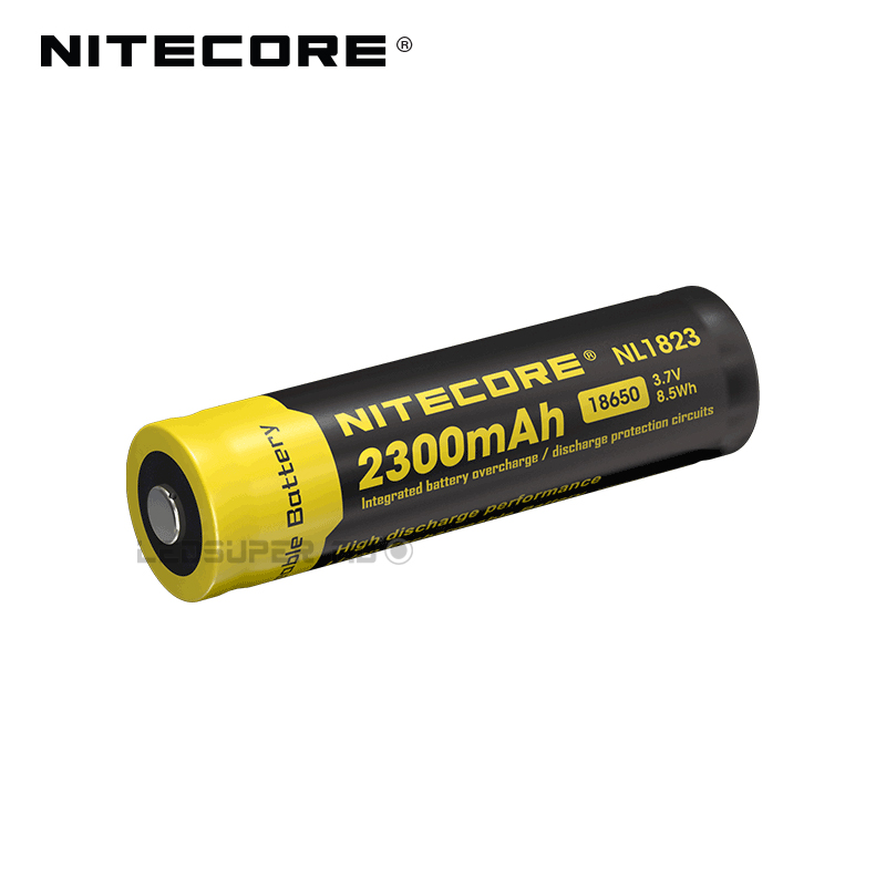 2 PCS Original Nitecore NL1823 2300mAh 3.7V Rechargeable 18650 Li ion Battery for LED Flashlight