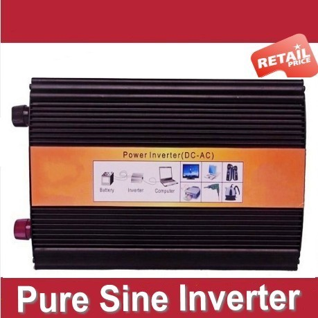 DHL FEDEX UPS express 1200W Pure Sine Wave Inverter DC to AC 2400 Watt Peak Power, Off Grid Wind Solar System Inverter