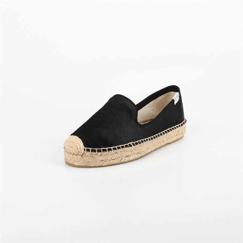 88b8e84b3b13 ... DZYM 2019 Summer High Quality Horsehair Flats Women Fishermen Shoes  Polka Dot Loafers Leopard Canvas Espadrilles ...