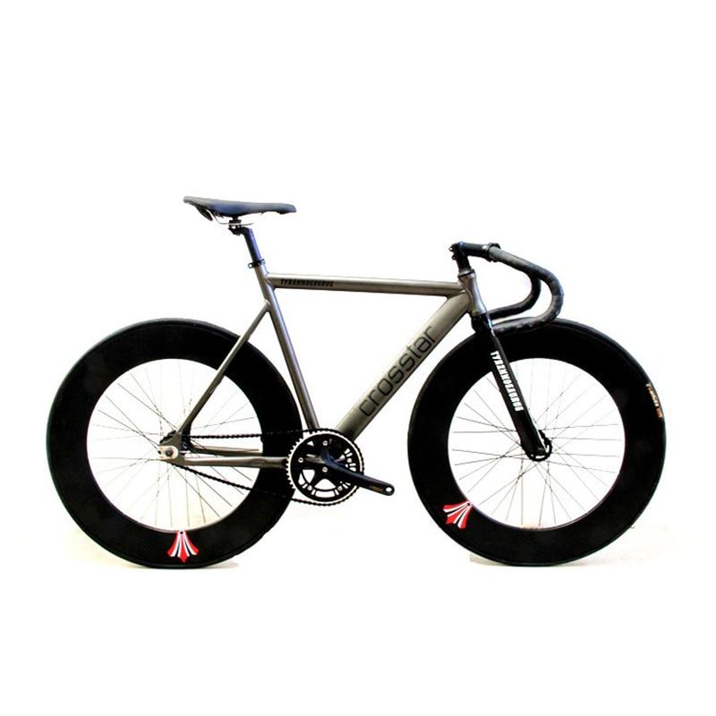 Fixed Gear Bike Urban Track Bike Frame With Carbon Fiber Fork  90mm RIM Road Bicycle Fixed Gear Bike Single Gear