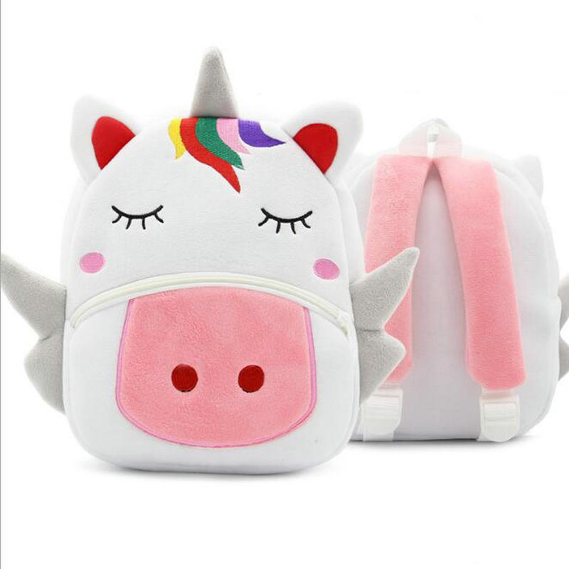 Cartoon Animal Unicorn Soft Plush Backpack Children Kindergarten Schoolbag Kids Baby School Bags Girls Boys Backpacks
