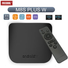 цена MECOOL M8S Plus W Amlogic S905W quad core android 7.1 1gb ram 8gb rom android tv box 2.4G wifi HDTV2.0 4K 1080P media player в интернет-магазинах
