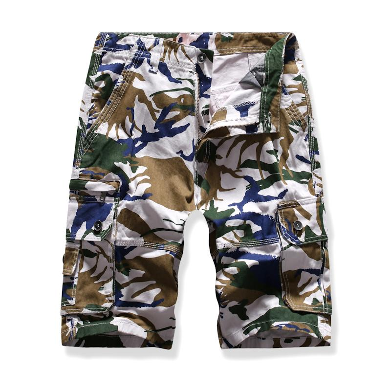 Multi-pocket Cargo Shorts For Men Fashion Camouflage Multi-color Summer Beach Casual New
