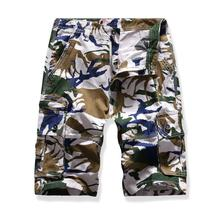 Multi-pocket Cargo Shorts For Men Fashion Camouflage Multi-color Summer Beach Casual Shorts Men New
