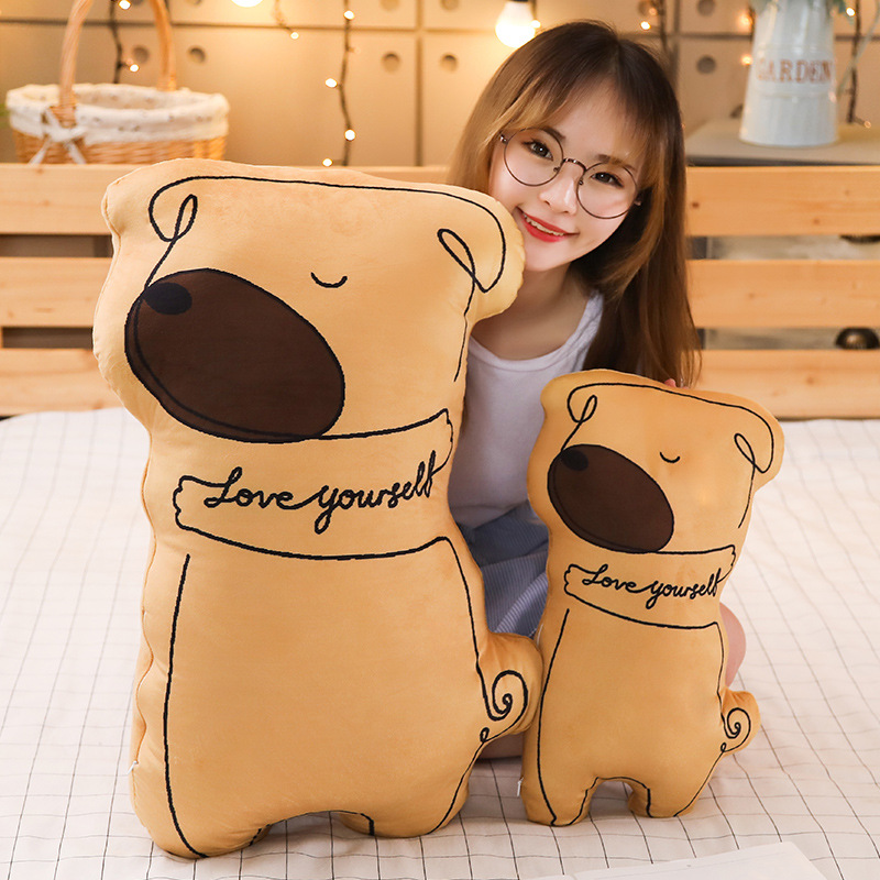 New 1pc Soft Animal Cartoon Pillow Cushion Cute Panda Bear Dog Cat Plush Toy Stuffed Kids Birthyday Gift Christmas Presents in Stuffed Plush Animals from Toys Hobbies