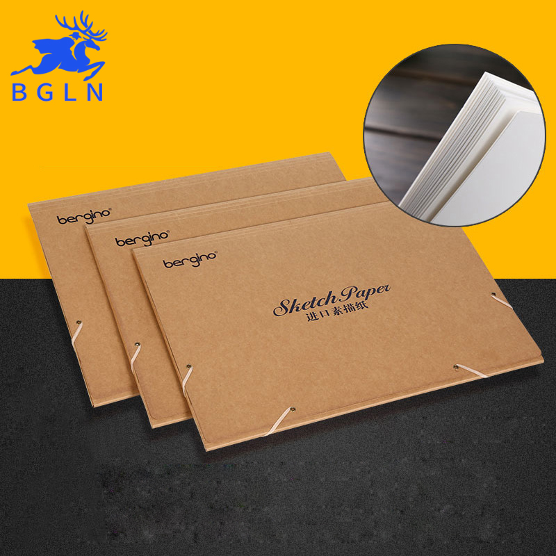 Imported Sketch Paper 20Sheets 4K/8k Sketch Book For Drawing Painting Professional Sketch Paper Book