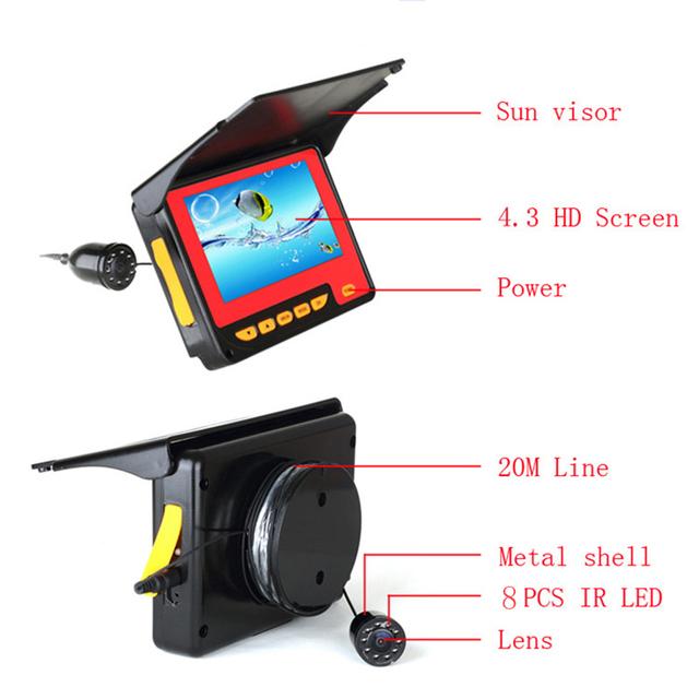 8 Infrared LED Underwater Fishing Camera