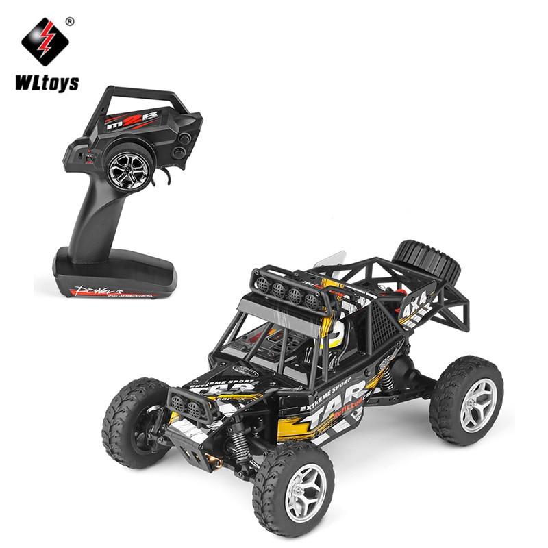 WLtoys 1:18 RC voiture électrique 4WD désert SUV 2.4G Rock Rover tout-terrain haute vitesse 40 Km/h gros pied course voiture jouets pour enfants cadeau