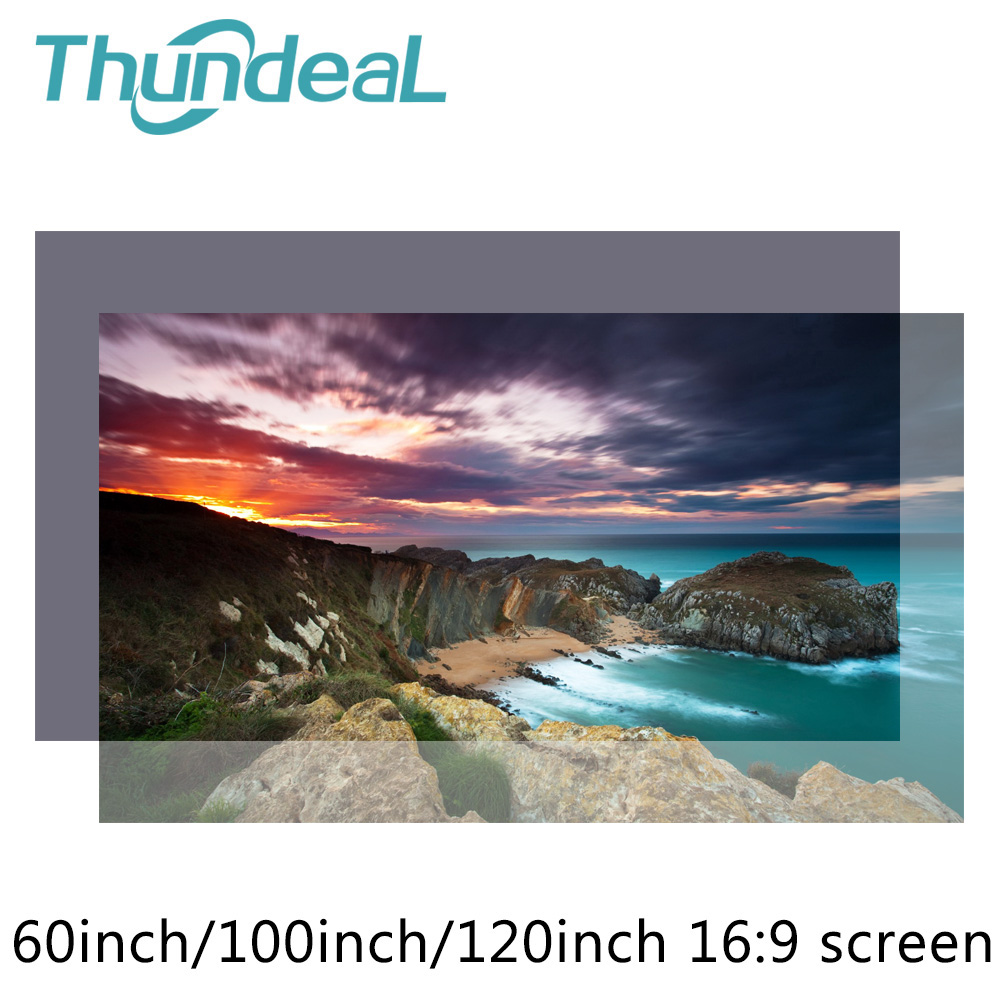 60 100 120 Inch High Brightness 16:9 Projector Screen Reflective Fabric Cloth Projection Screens for Epson Sony BenQ XGIMI JMGO 60 72 84 100 120 inch grey screen reflective fabric projection screen for xgimi h1 h2 h1s z6 z4 jmgo j6s projector beamer