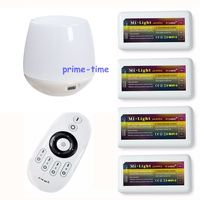 2 4G 4 Zone Wireless RF Remote 4pcs WW CW CCT LED Controller Group Control WiFi