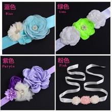 Children's Decorative Belt, Pearl Flower Chiffon Belt, Flower Boy Dress Accessories, Flower Belt, Hand-made Wholesale. sequin empire waist chiffon prom evening dress