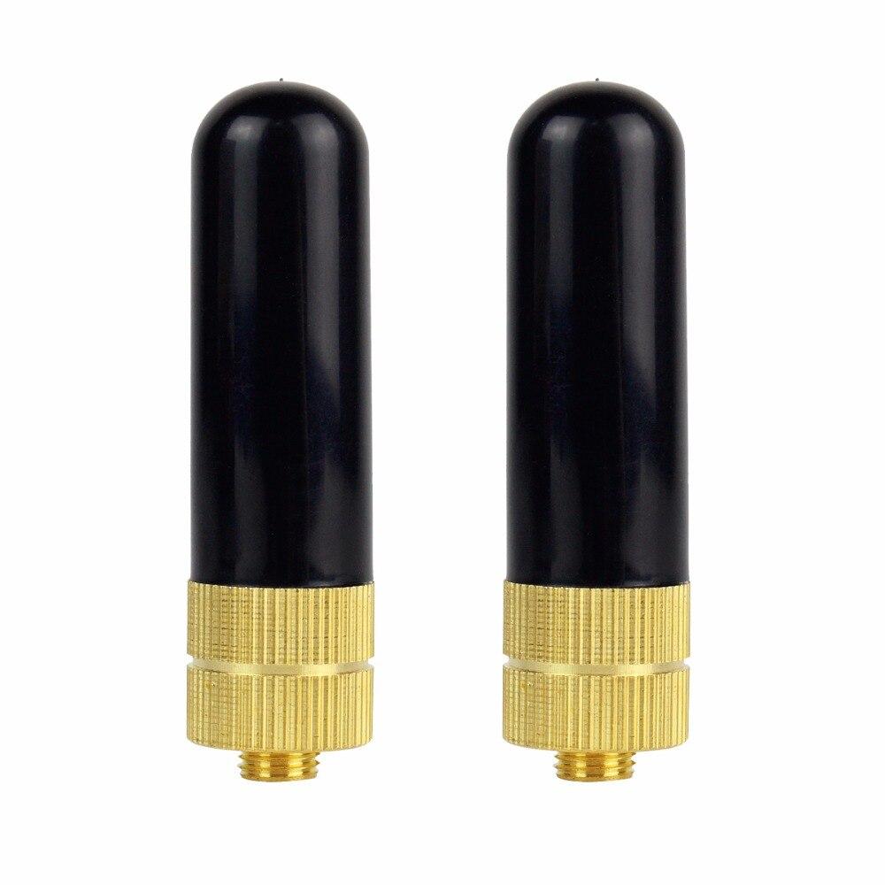 imágenes para 2 unids retevis rt-805s antena sma-f uhf + vhf de banda dual de baofeng uv-5r para kenwood puxing quansheng walkie talkie c9022a