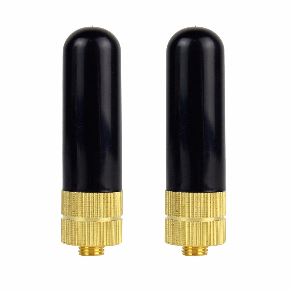 2pcs Retevis RT-805S UHF+VHF Dual Band Antenna SMA-F for Baofeng UV-5R for Kenwood PUXING QUANSHENG Walkie Talkie C9022A