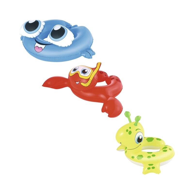Inflatable Kids Sea Creature Deer/Frog/Crab Swim Ring Swimming Pool Float Water Toys Fun Raft Boia Piscina