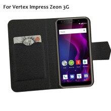 5 цветов горячей! Vertex Impress Zeon 3g чехол для телефона кожаный чехол, заводская цена защитный полный Флип Стенд кожаный чехол для телефона чехлы