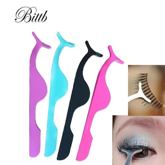 Bittb 2pcs False Eyelashes Tweezers Extension Eyelash Applicator