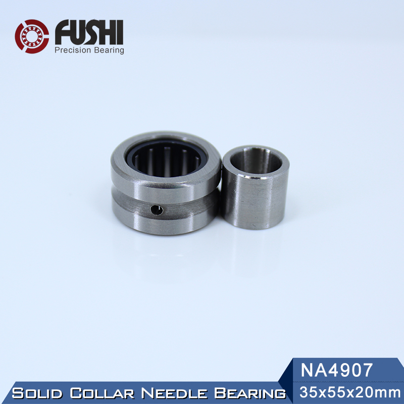 NA4907 Bearing 35*55*20 mm ( 1 PC ) Solid Collar Needle Roller Bearings With Inner Ring 4524907 4544907/A Bearing