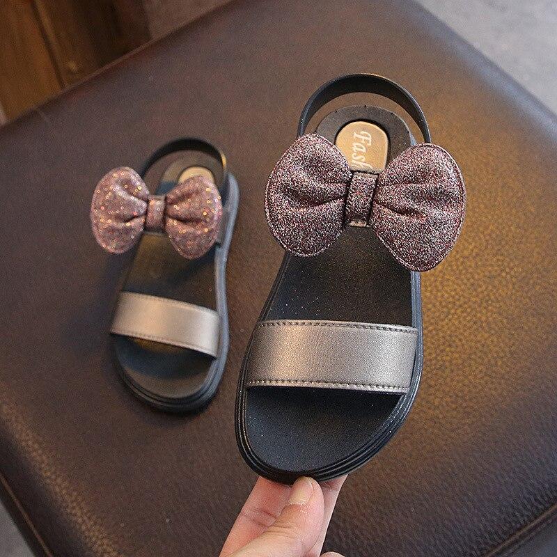 New Summer Open-Toe Girls Sandals Children Bowtie Shoes Kids Party Shoes For Girl Princess Children Sandals Size 27-37