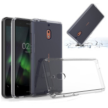 For Nokia 2.1 2v Case Slim Fit Transparent Clear Anti drop Protective Soft TPU Edge Hard Back Cover 2V (2018)