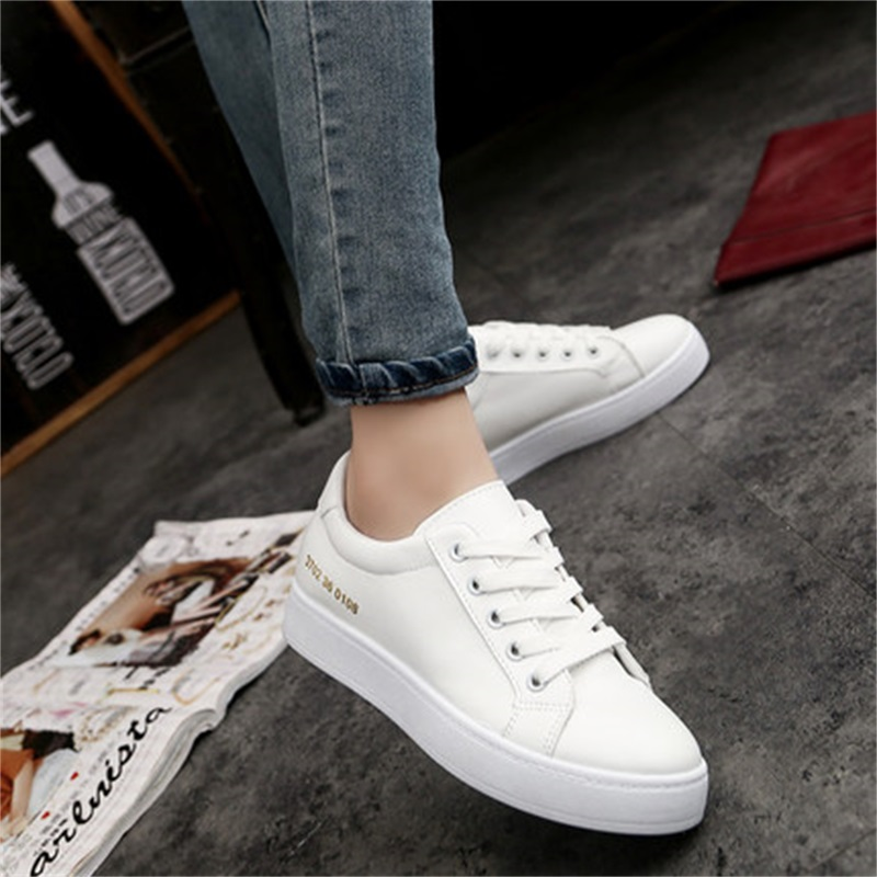 2017 autumn white shoes female Korean flat white lace all match student leisure  shoes-in Women's Vulcanize Shoes from Shoes on Aliexpress.com | Alibaba ...