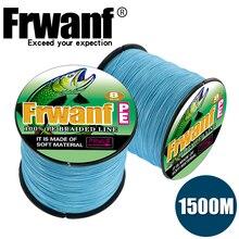 Frwanf 1500M Braided Fishing Line 8 Strand 15 LB Test Black 200LB Saltwater Freshwater Underwater Hungting Lines X8