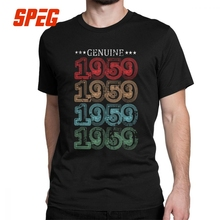 Men 1959 Vintage 60th Birthday Gift T Shirts 60 Years Old Shirt Round Neck