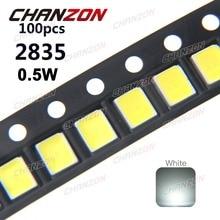 100 шт. SMD LED 2835 белый Чип 0,5 Вт 3 в 150 мА 50-55 ЛМ Ультра яркий SMT 0,5 Вт Поверхностного Монтажа PCB LED светодиод лампы