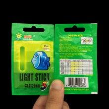 50Pcs 4.5*37mm Fishing Float Fluorescent Lightstick Light Night Float Rod Lights Dark Glow Stick Useful Lots for Fishing/Party
