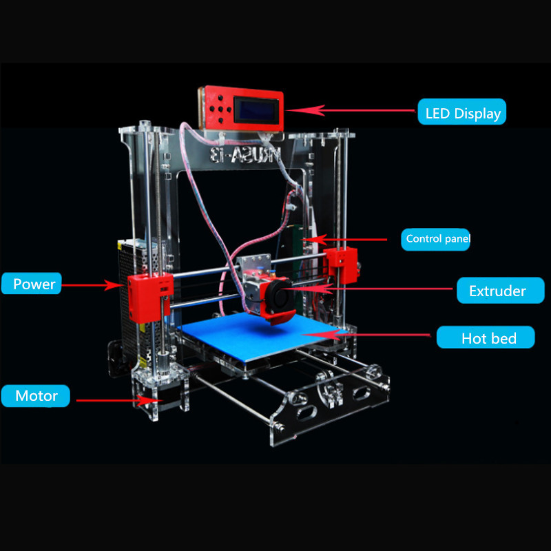i3 DIY 3D Printer Upgrade High Precision For Reprap Pro B MK8 2kg ABS Filament flsun 3d printer big pulley kossel 3d printer with one roll filament sd card fast shipping