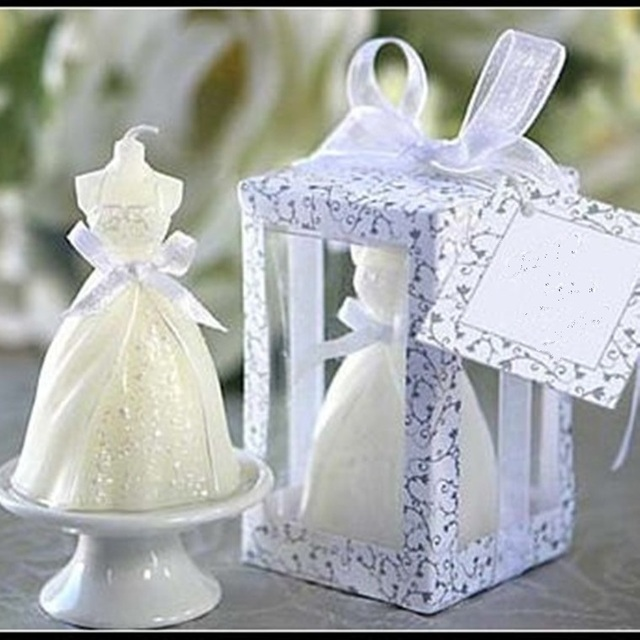 2017 new wedding dress candle wedding gifts for guest wedding