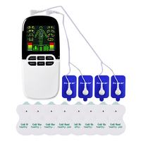 8 Modes Electric Full Body Massager Muscle Stimulator Nose Rhinitis Sinusitis Acupuncture Therapeutic Machine +Electrode Pads