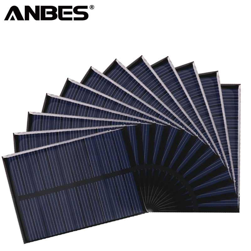 ANBES Solar Panel 5V 6V 12V Mini Solar System DIY For Battery Cell Phone Chargers Portable 0.15W 0.6W 1W 1.25W 1.5W Solar Cell