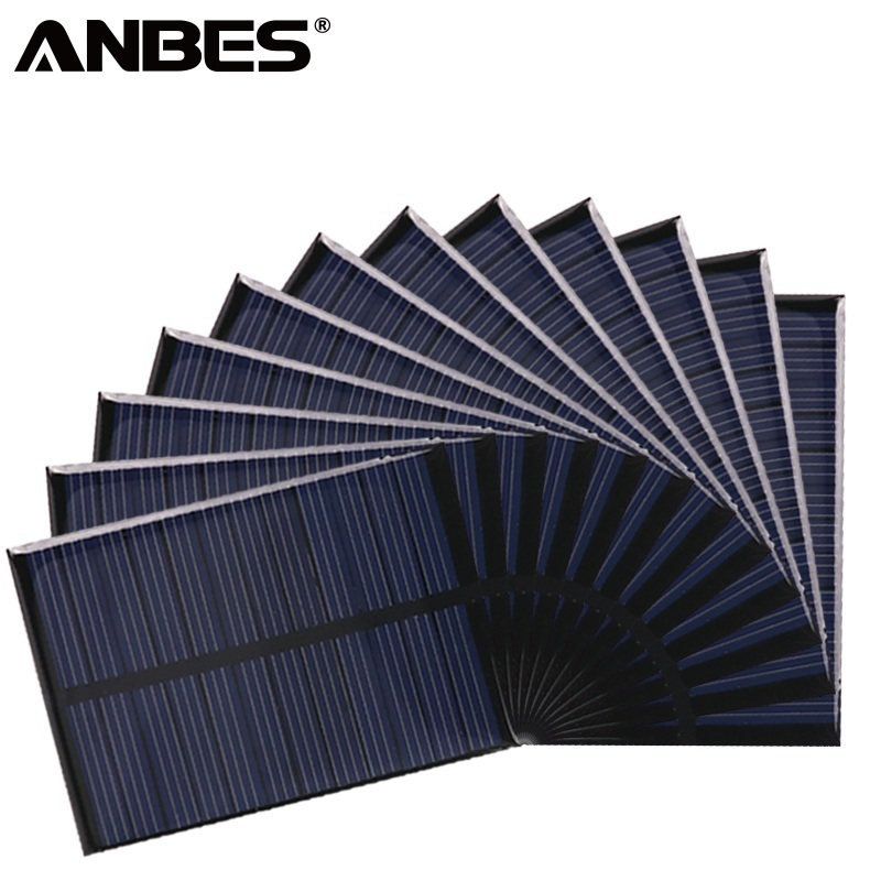 ANBES Solar Panel 5V 6V 12V Mini Solar System DIY For Battery Cell Phone Chargers Portable 0.15W 0.6W 1W 1.25W 1.5W Solar Cell number