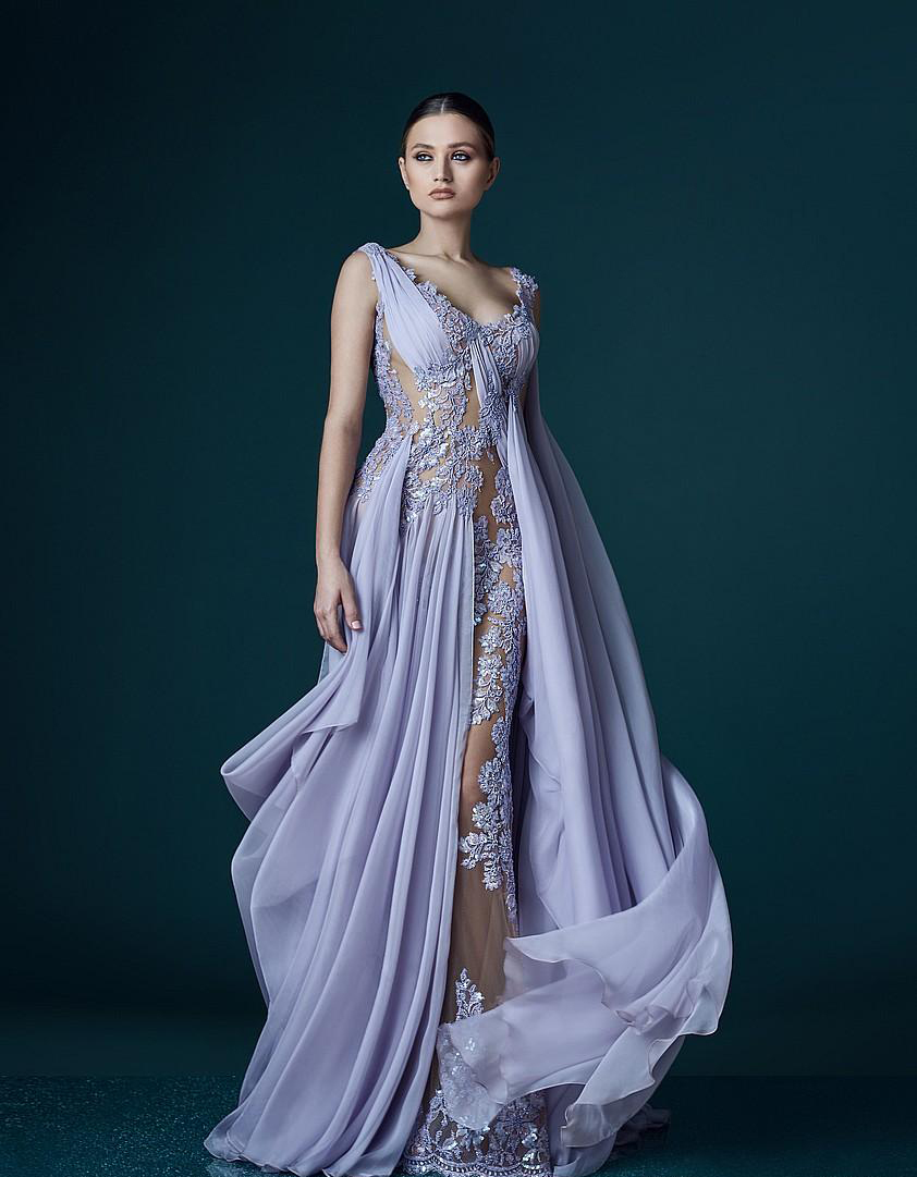 sexy v neck lilac evening dresses 2017 unique a line