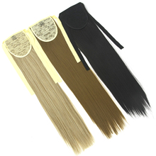 Soowee 22inch High Temperature Fiber Fairy Tail Long Straight Hairpiece Drawstring Ponytail Hair Extensions