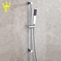 DISGOD Bathroom Portable Hand Shower Faucet Set All Copper Lifting Bracket Rotation Stents Holder For Handheld Shower Head