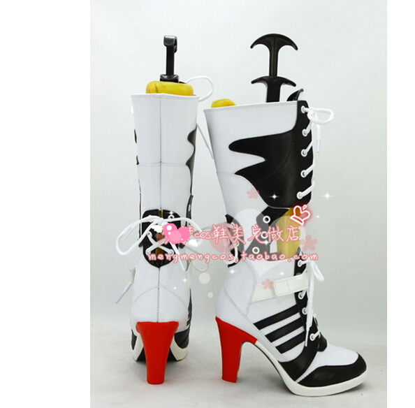 390413201b3e7b Customize Batman DC Comic Suicide Squad Harley Quinn Cosplay Shoes Costume  Anime Boots High Heel Boots -in Shoes from Novelty   Special Use on ...