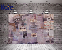 Digital Printing Retro Photography Backdrops Splicing Of Old Newspapers Studio Photo Wall Background For Children