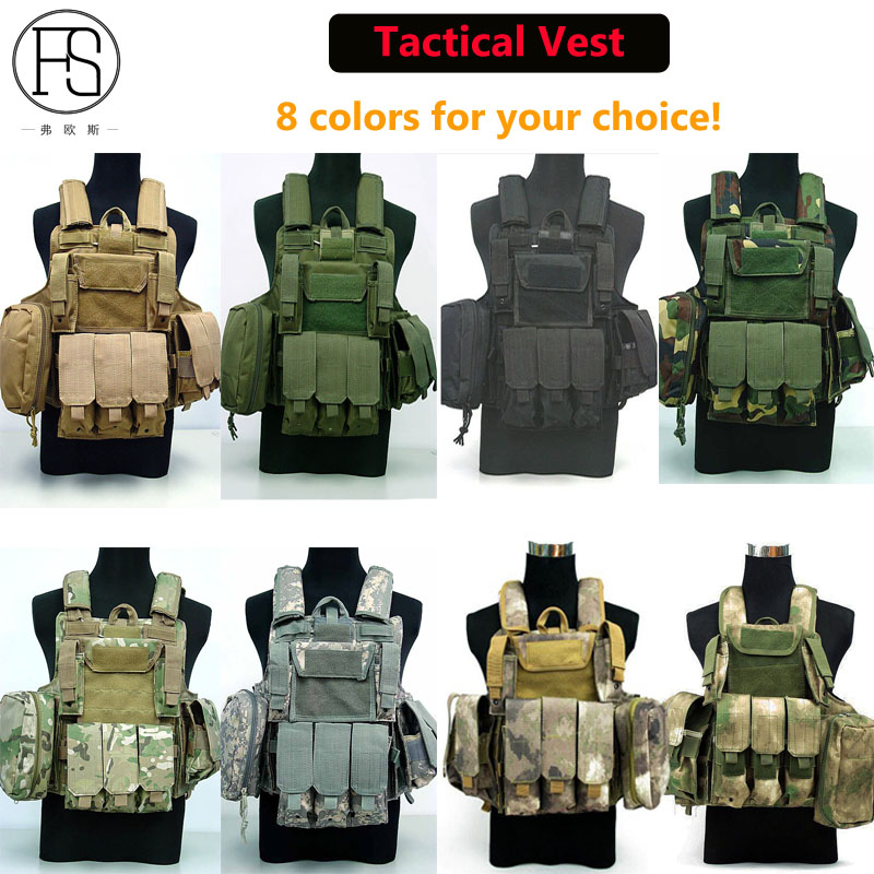 Military Equipment Tactical Vest Colete Airsoft Hunting Wargame Camouflage Vest Army Training Jungle Combat Paintball Uniform