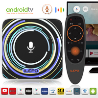 ILEPO Google Voice Control tv box i18b android 7.1 system 2G 16G with IPTV 4K PK X96 mini