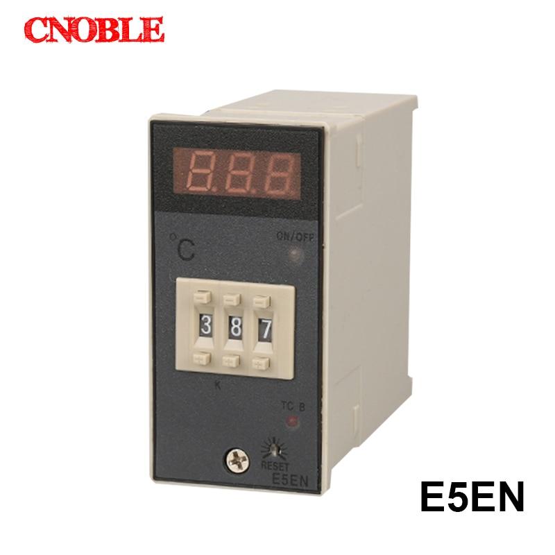 AC 220V 3A K Type Temperature Controller,E5EN 0-399C LED Digital Display Control Meter цены