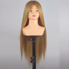 26inch Synthetic Hair Mannequin Head Hairdressing Hair Training Head With Shoulder Practice Hair Styling Manikin Head цены